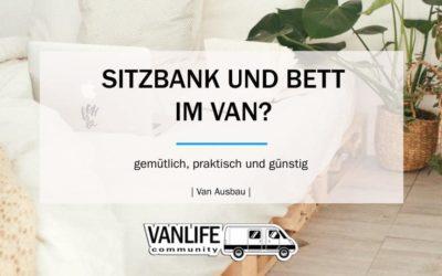 Sitzbank und Bett für den Van