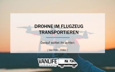 DROHNE IM FLUGZEUG TRANSPORTIEREN