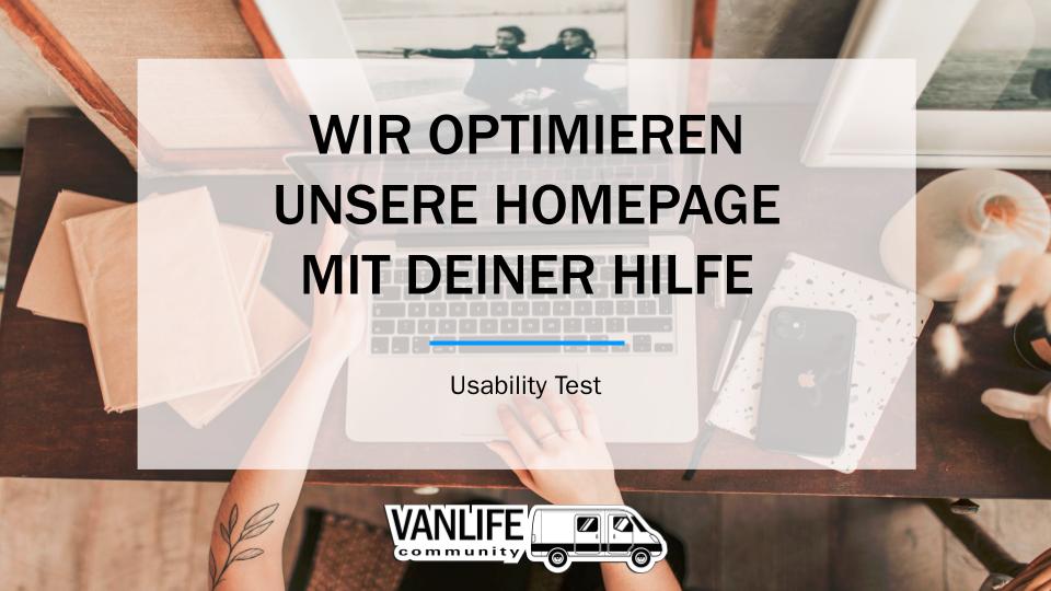 Usability Test – www.vanlife-community.com