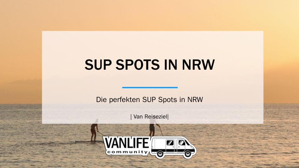 SUP Spots in NRW