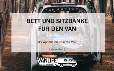 Bett und Sitzbank für den Van